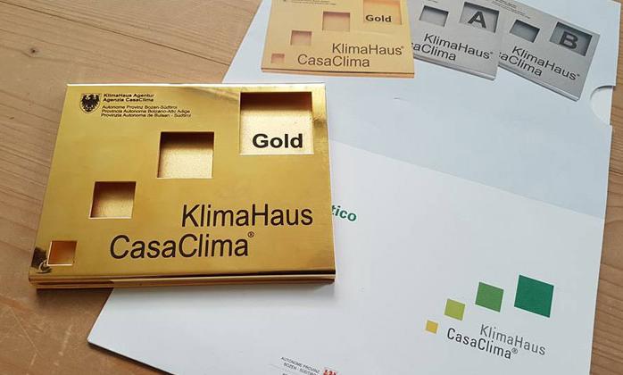 Certificazione ORO casa clima